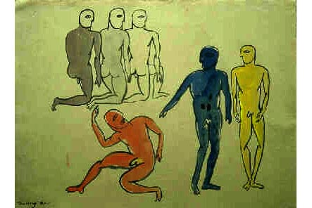 Three man, tác phẩm của Trương Tân