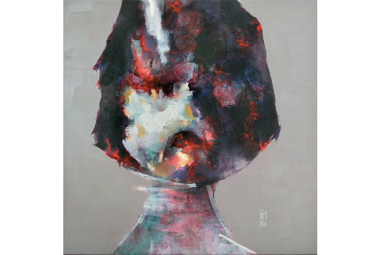 Little girl, Oil on canvas, 108x108cm