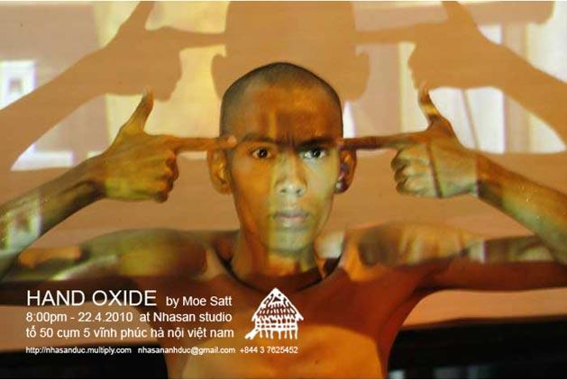 Poster về trình diễn của nghệ sĩ Moe Satt