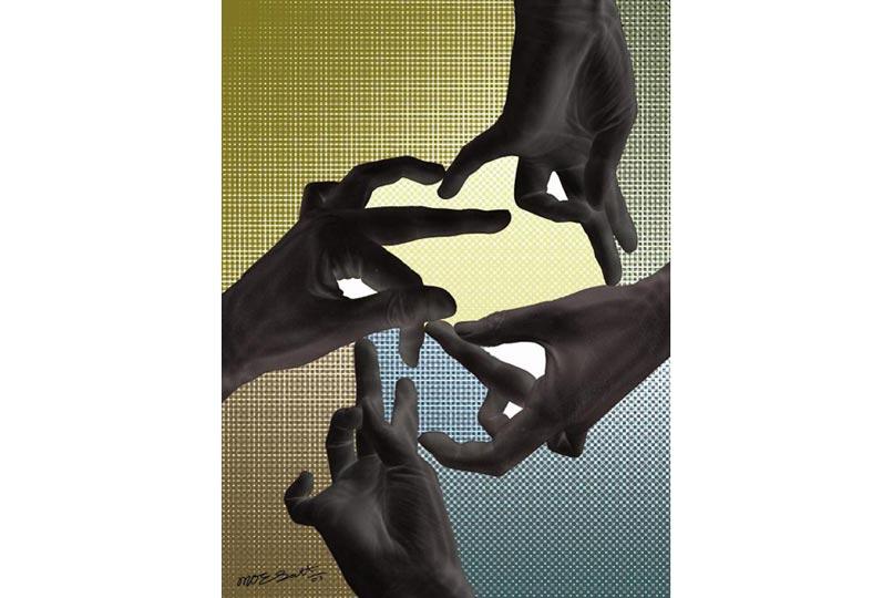 Một mẫu nghệ thuật của Moe Satt tại triển lãm