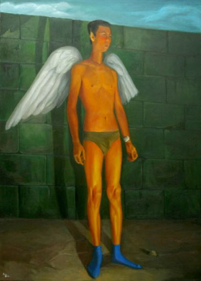 Angel, oil on canvas, 2010, 124x90cm