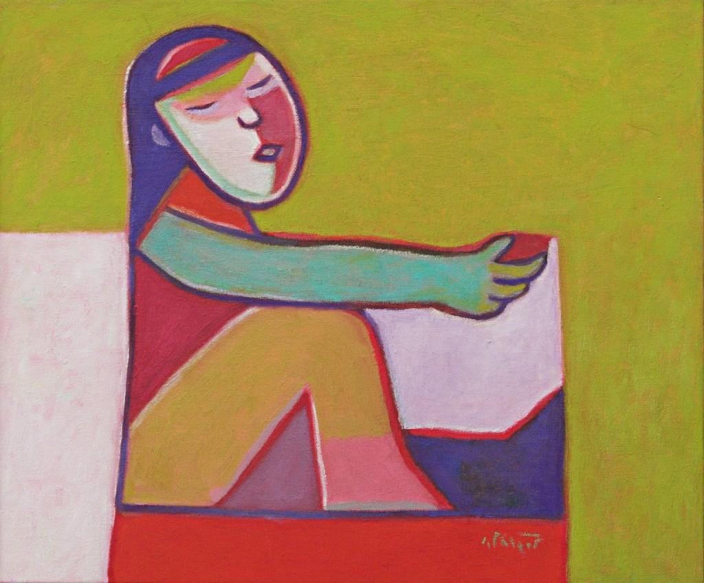 Thị Nở, Thành Chương, Sơn dầu, 2005