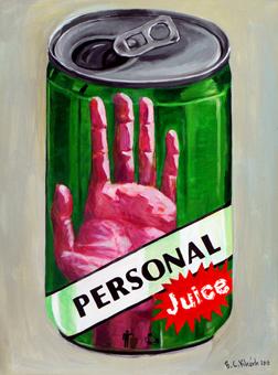 lon nước cá nhân - acrylic on canvas, 60 x 80, ảnh Sàn Art