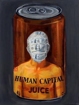 lon nước nhân lực, acrylic on canvas, 60 x 80, ảnh Sàn Art