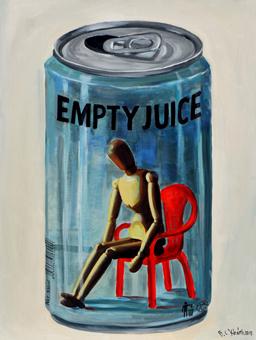 lon nước trống rỗng, acrylic on canvas, 60 x 80, ảnh Sàn Art