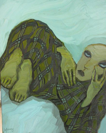 The sadness 5, 2008, 155x120cm