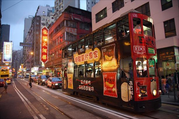 Declan McCullag - Xe điện hai tầng ở Hong Kong, rất tiện.