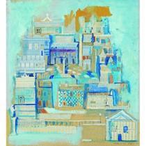 "La Ville Antique - bức tranh ""màu ngọc bích"""