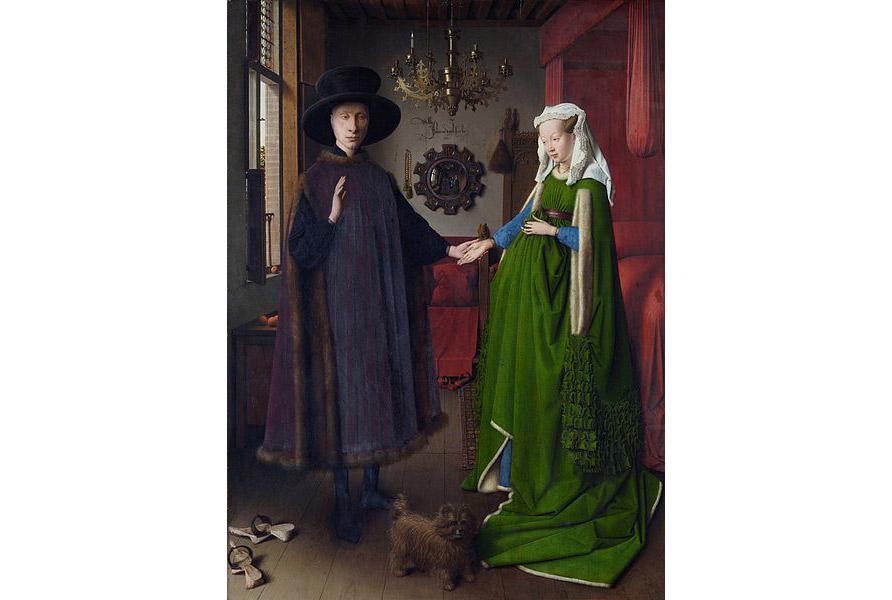 """""""Chân dung đám cưới"""" của Van Eyck, 1434"""