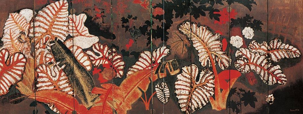 Nguyễn Gia Trí, dọc mùng, 160 x 400 cm, sơn mài