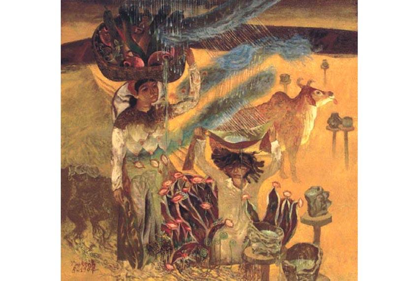 Nguyễn Thế Vinh (Nguyễn Vinh), người xóm Chàm Phan Rang, 110 x 120 cm, sơn dầu