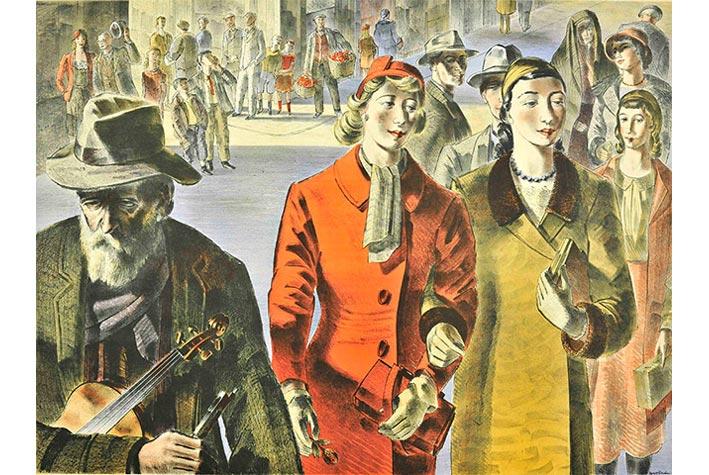 "Tác phẩm ""People"" (Người), Barnett Feedman, 1947."
