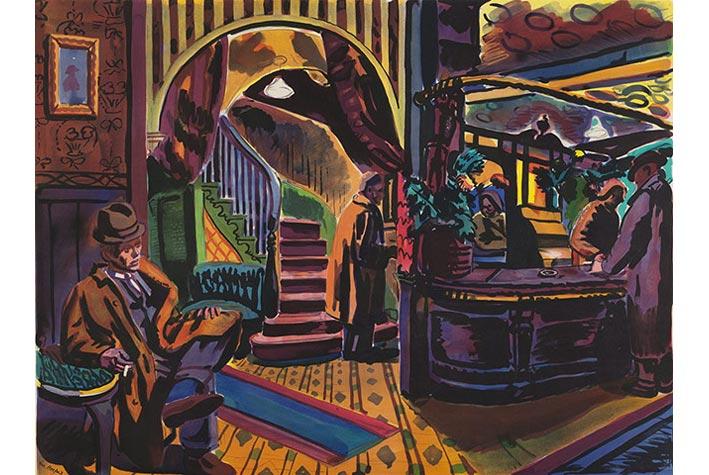 """""""Hotel Entrance"""" (Sảnh khách sạn), George Hooper, 1946"""