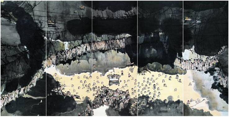 """Liu Qinghe, """"Sepat"""", mực trên giấy, 2007"""