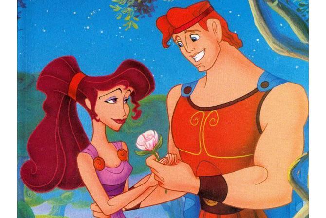 """Hercules và cô bạn gái Megara trong phim hoạt hình """"Hercules"""" của Disney"""