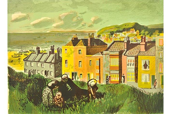 """""""Hasting"""" (Thị trấn Hastings), Edwin La Dell, 1947"""