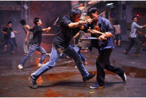 Một cảnh đánh nhau trong phim
