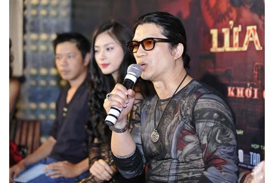Dustin Nguyễn, Ngô Thanh Vân, Thái Hòa trong họp báo