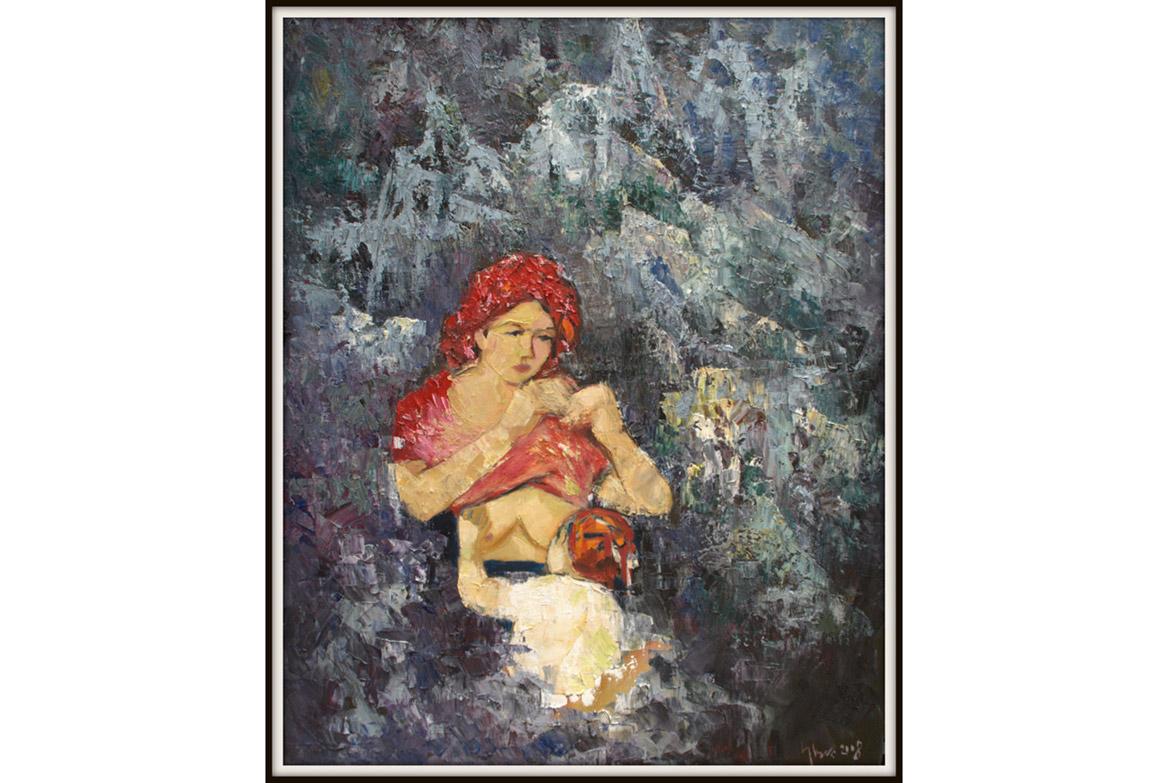 Mẹ trong đá (80x100 cm) - giá dự kiến: 1.900USD