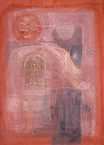 """""""Âm nhạc của tương lai"""", 1998, acrylic trên giấy dó, bột màu, tempera"""