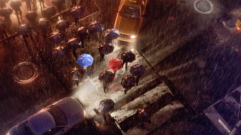 Một cảnh của Blue Umbrella
