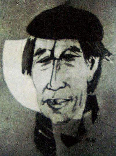 Chân dung nhà thơ Thế Mạc do Nguyễn Lương Ngọc vẽ