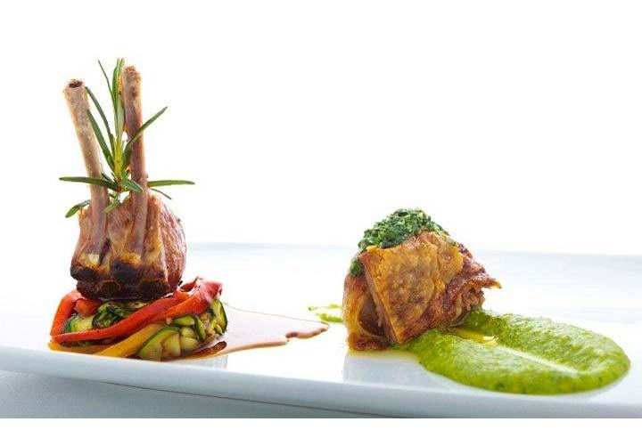 Alentejo-lamb-with-rocket-polenta-grilled-vegetables