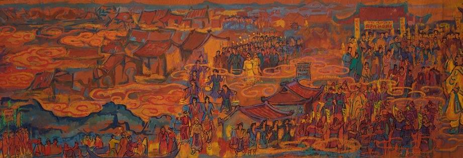 Quách Phong 'phác thảo lịch sử Việt Nam' trên giấy bản và sơn mài